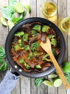 Thai Beef with Broccoli Recipe - Coconut milk, red curry paste, shallots, brown sugar, fish sauce, broccoli