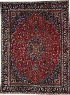 red and blue persian rug?