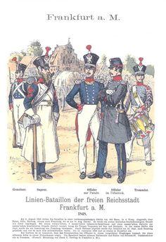 Band XIV #44.- Frankfurt a. M. Linien-Bataillon der Freien Reichsstadt Frankfurt a. M. 1848.