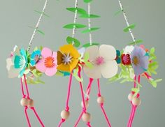 Cricut Crafts: Paper Flower Chandelier