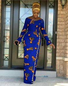 Lovely African Print Dress, Classic Ankara Dress, African Dress - Women's style: Patterns of sustainability Latest African Fashion Dresses, African Dresses For Women, African Print Fashion, Africa Fashion, African Attire, African Prints, Ankara Fashion, African Fashion Designers, Modern African Print Dresses