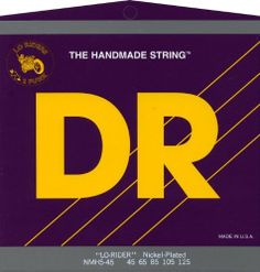 DR Strings Nickel Lo-Rider - Nickel Plated Hex Core 5 String Bass 45-125 by DR Strings. $29.43. Gauges 45-65-85-105-125. Nickel Lo-Riders nickel-plated bass strings feature hexagonal cores wound with nickel-plated steel for a softer feel and a traditional warm nickel sound. Lo-Riders bass strings are even, long lasting, and loud with midrange growl. Excellent for fretless basses.. Save 55% Off!