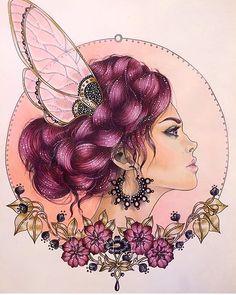Fairy Queen Hanna Karlzon dagdrommar Coloring book Simplesmente demais…