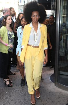 Loved Solange for the hair, outfit, and shoes