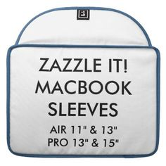 """Custom Personalized 15"""" MacBook Pro Laptop Sleeve - create your own gifts personalize cyo custom"""