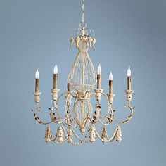 "Quorum La Maison 28"" Wide Persian White Chandelier"