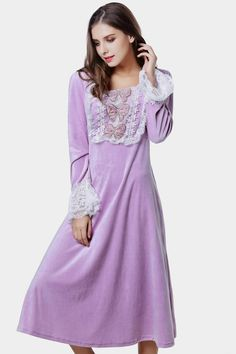 Autumn&winter Subalpine Thickening Velvet Cotton Princess Dress $61.14 => Save up to 60% and Free Shipping => Order Now! #fashion #woman #shop #diy www.homeclothes.n...