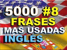 FRASES#8 - INGLÉS ESPAÑOL - CON PRONUNCIACIÓN - INGLÉS AMERICANO - Most ... English Help, English Class, Confirmation, English Phrases, Most Common, Teaching Tips, Spanish, Learn English, English Course