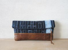 Fold Over Clutch Bag  Vintage Batik Fabric and by frompastopresent
