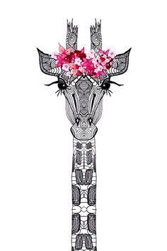 FLOWER GIRL Art Print I love that the giraffe is wearing a floral crown Poster Online, Giraffe Art, Giraffe Drawing, Giraffe Painting, Giraffe Pattern, Tumblr Wallpaper, Drawing Wallpaper, Wallpaper Ideas, Art Mural