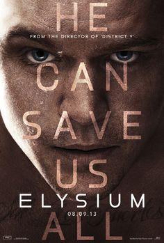 ELYSIUM - New Poster Features Matt Damon Up Close
