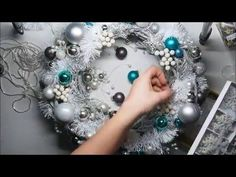 Easy DIY Christmas Wreath Ornament Tutorial - YouTube