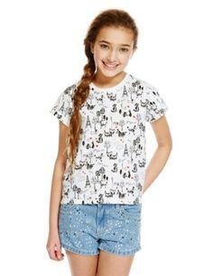 Pure Cotton Paris Print T-Shirt (5-14 Years) | M&S