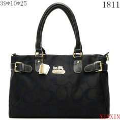 US1288 Coach Chelsea Signature Jayden Carryall X1811 - Black 128