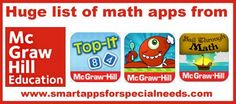 Smart Apps For Special Needs: Huge Collection of Math Apps from McGraw-Hill