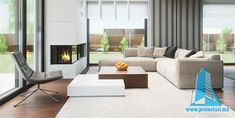 Browse images of modern Living room designs by HomeKONCEPT House Layout Plans, House Layouts, House Plans, Modern Interior, Interior Design, Bungalow House Design, Cottage Plan, Living Room Pictures, Design Case