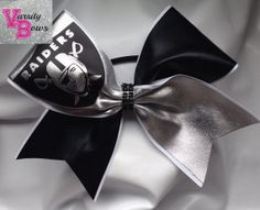 Oakland Raiders Cheer Bow  by VarsityCheerBows on Etsy, $12.00