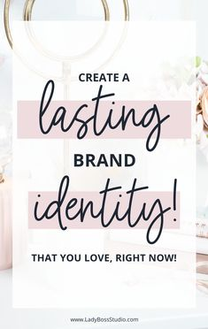 Create A Lasting Brand Identity That you Love, Right Now! While creating a new brand or rebranding your business can be really exciting for most business owners, it can also bring on a lot of questions about which fonts to use, the type of logo you need, which colors look best, and so forth. In today's blog post we walk you through how to create a lasting Brand Identity for your Business! Check it out now! Business Quotes, Business Ideas, How To Make Logo, Blog Topics, Branding Ideas, Pinterest For Business, Business Branding, Virtual Assistant, Personal Branding