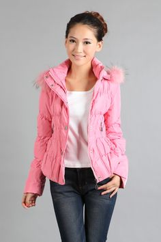 Only need $66.60.Free Shipping 2012 Short Design Slim Down Coat Female,90 Duck Down Women Brand Jackets Pink/Orange Colors Winter Outerwears Discount.filler :above 90% white duck down.  fabric : 100% terylene. lining : 100% terylene cholesteatoma. material : 100% terylene.  clothing risked collar type :detachable cap wool.Christmas promotion.