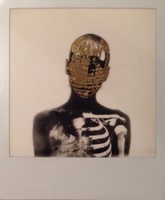 New gold leaf collage available this weekend at backyard market Brick lane, Andrew J Millar
