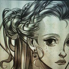 Hair tutorial step by step section ;) #tutorial #hair #sketch #girl