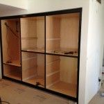 Storage Cabinets in a Walkway Niche