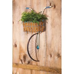 Found it at Wayfair - Front Basket Metal Bicycle and Planter Wall Decor, $110