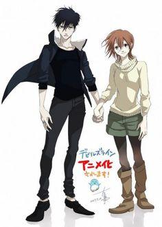 Manga 'Devil's Line' Gets Anime Adaptation - My Anime Sekai Vampire Manga, Vampire Boy, Awesome Anime, Anime Love, Anime Devil, Mini Comic, Anime Group, Love Illustration, Cute Anime Couples