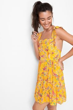 vestido decote estampado naomi