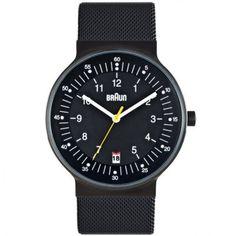 Braun - Mens All Black Digital Watch - BN0082BKBKMHG  RRP: £175.00 Online price: £131.25 You Save: £43.75 (25%)  www.lingraywatches.co.uk