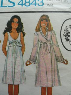 Vintage 70s Laura Ashley McCall's 4843 sexy by LynnsLittleShop, $11.00 Lingerie Patterns, Vintage Dress Patterns, Vintage Dresses, Fashion Night, Girl Fashion, Laura Ashley Patterns, Vintage 70s, Vintage Fashion, Textiles