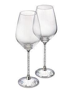#Swarovski Crystalline Wine Glasses