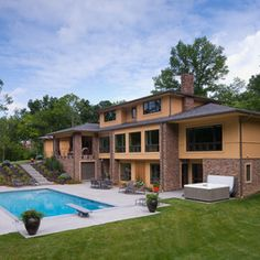 Contemporary Home split level roof Design Ideas, Pictures, Remodel and Decor