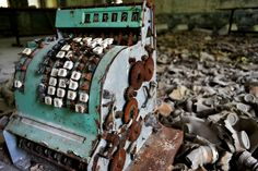 Photograph cash register in abandoned school by Victoria Henry on 500px