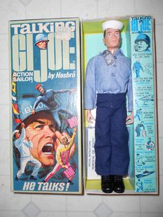 GI Joe Talking Action Sailor MIB Vintage Toys 1970s, 1960s Toys, Happy 50th Birthday, Play Sets, Military Figures, Toy Soldiers, Toys Shop, Us Navy, Gi Joe