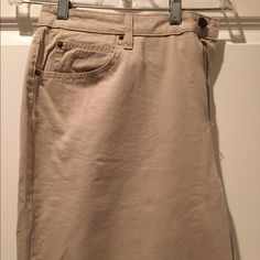 St. John's Bay khaki pants - never worn New with retail tags attached, relaxed cut, narrow leg, 5 pocket khaki pants. St. John's Bay Pants Straight Leg