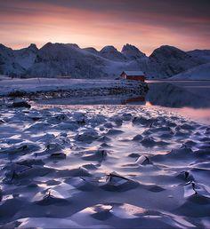 Break Of Dawn | Lofoten Islands | Norway | Photo By Max Rive #Norway ☮k☮ #Norge