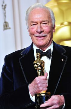 """Christopher Plummer, Best Supporting Actor in for """"Beginners. Hollywood Icons, Golden Age Of Hollywood, Classic Hollywood, Old Hollywood, Academy Award Winners, Academy Awards, Best Actress, Best Actor, Oscar Winning Movies"""