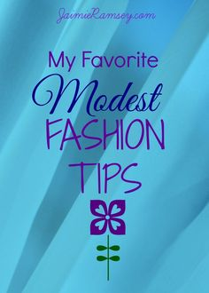 modest fashion tips--dress modestly and fashionably on a budget!
