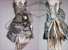 Pale blue boho watch cuff by Pinkabsinthe on deviantART Victorian Goth, Gothic Lolita, Steampunk Costume, Steampunk Fashion, Steampunk Crafts, Dragonfly Necklace, Skull Necklace, Steampunk Accessories, Lace Cuffs