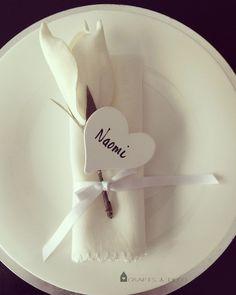 4 St. Herzen Namenschilder Tischkarte Hochzeit von Crafts