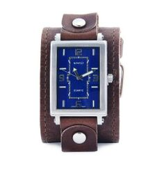 Nemesis Men's BLBB018L Classic Brown Base Leather Cuff Band Watch Nemesis. $72.00. Stainless steel case. Case diameter: 46 mm. Water-resistant to 165 feet (50 M). Durable mineral crystal protects watch from scratches. Quartz movement
