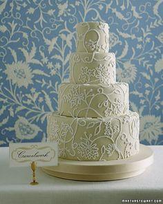 Crewelwork Wedding Cake