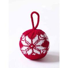 Fair Isle Snowflake Ornament in Lion Brand Wool-Ease - 70735AD