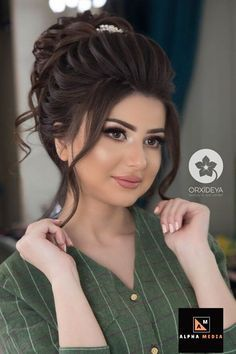 Awesome Looking Hair Styles - Latest hairstyles for party/Wedding , Long Hairstyles. Bridal Hairstyle Indian Wedding, Bridal Hair Buns, Bridal Hairdo, Hairdo Wedding, Elegant Wedding Hair, Wedding Hairstyles For Long Hair, Bridal Hair And Makeup, Elegant Hairstyles, Indian Hairstyles