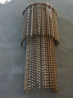 lamp of recycled bicycle chains