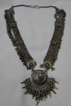 ethnic tribal vintage old silver necklace pendant by TRIBALEXPORT, $1199.00