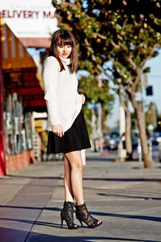 Check out blogger Geri Hirsch in our Shanley Sweater + Haydee Skirt...