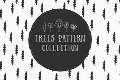 Trees pattern collection by Anatartan Design on @creativemarket