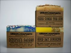 LAZY DAYS Trio soap Set - Cold Process Soap, Cocoa Butter Soap, Homemade soap, Bar Soap, Men's Soap, Soap Sets, Unisex Soap by UrbanSoapsmith on Etsy